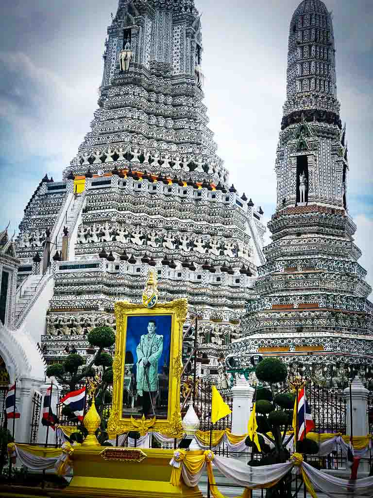 stunning black and white temple in bangkok, thailand