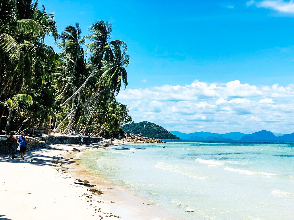 white sandy beach in Thailand