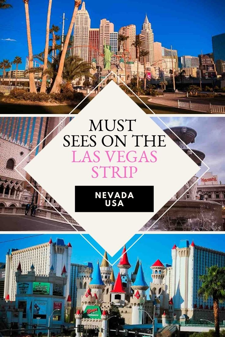 must sees on the las vegas strip pin