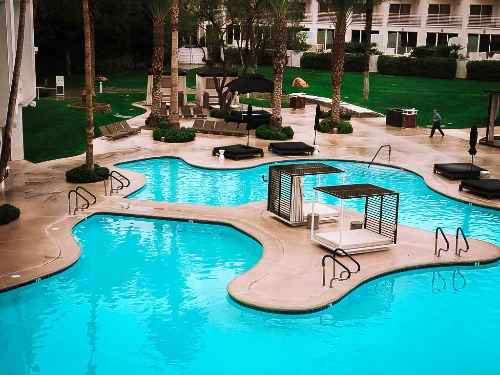 curved pools at the tropicana hotel