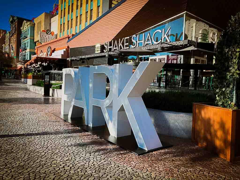 large white letters spelling park in las vegas
