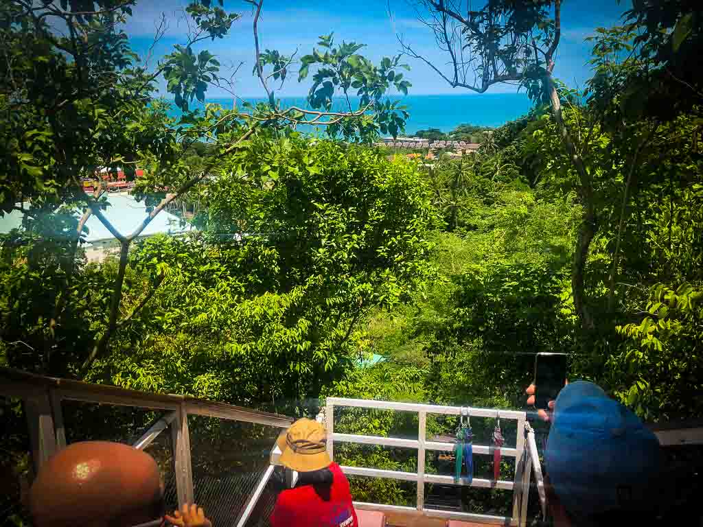 view from small cable car at lamai viewpoint