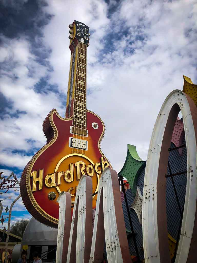 hard rock guitar sign in las vegas