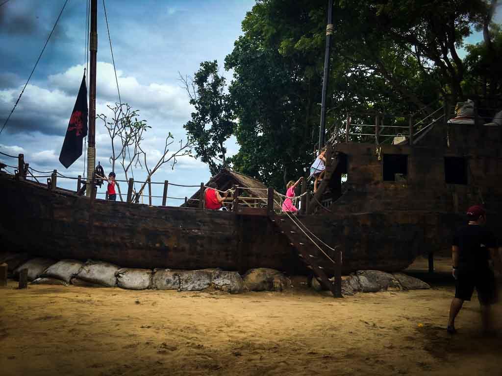 pirate ship play area in nusa dua, bali