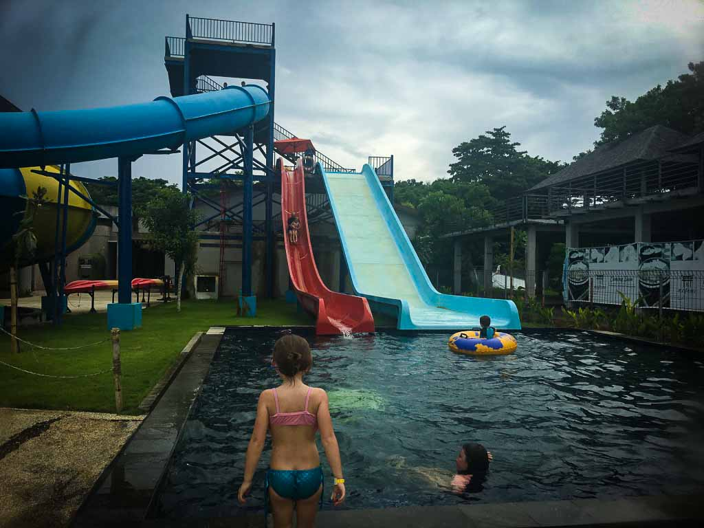 water slides at surf and turf in nusa dua