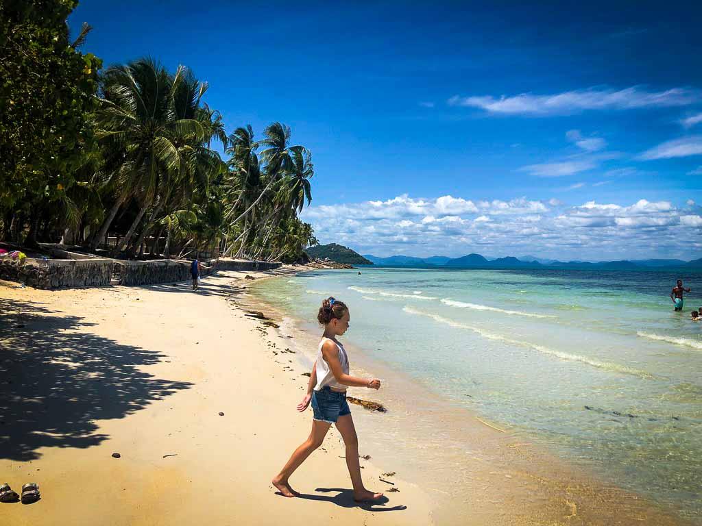 piper quinn on a deserted beach